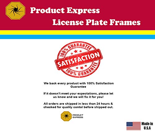 Product Express I Love My American White Shepherd Dog Cat Black License Plate Frame Tag Border 13