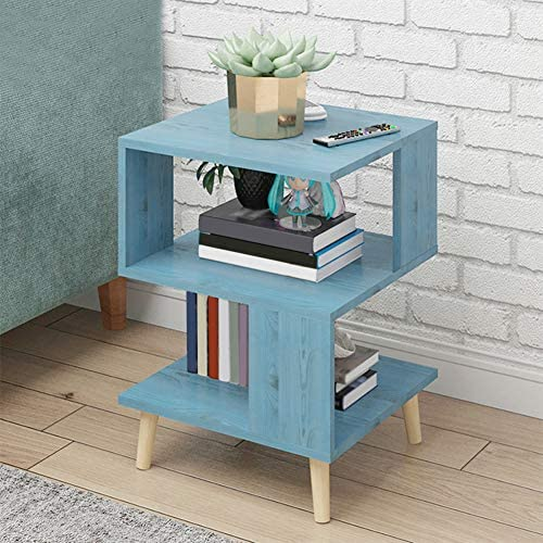 ZPEE Simple Furniture Bedside Cabinet,Wooden Storage Smooth Surface Nightstand with Drawer with Open Compartments Storage Drawer Wooden Cabinet with Legs G 40x40x57cm