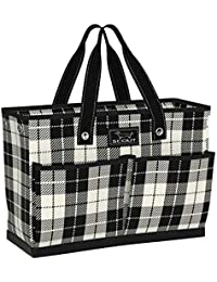 BJ Bag, Large Tote Bag for Women with 4 Exterior Pockets and Interior Zippered Compartment, Perfect Utility Tote Bag with Pockets for Teachers and Nurses (Multiple Patterns Available)