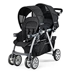 For infants, the Chicco Cortina Together Double Stroller accepts two KeyFit or Fit2 car seats, one in each seat. (sold separately) The front seat folds forward and the rear seat reclines to accept the car seat with integrated click-in attachm...