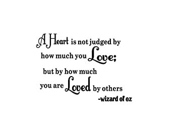 Great Wizard Of Oz Vinyl Wall Quote Decal Heart Is NOT Judged Sticky Imaginations  Quotes