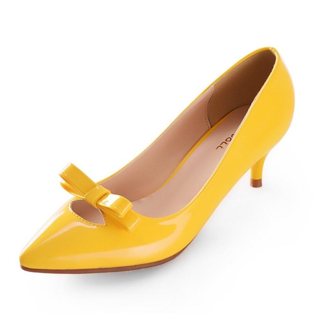 WLJSLLZYQ Sommer Mode scharfen flachen Mund der Menschen Schuhe Schuhe Schuhe süße weibliche Schuhe zu beugen fedfcc