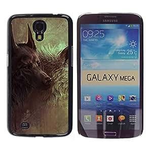 TECHCASE**Cubierta de la caja de protección la piel dura para el ** Samsung Galaxy Mega 6.3 I9200 SGH-i527 ** Wolf Hound Dog Majestic Painting Art