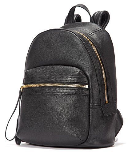 EMINI HOUSE Women Genuine Leather Backpack School Bag Girls Ladies Daily Purse Travel Bag Rucksack-Black by EMINI HOUSE