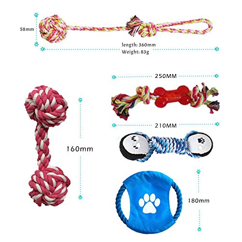 Bojafa-Dog-Toys-6-Pack-Gift-SetPet-Dog-Cotton-Rope-Toys-Durable-Chew-Toy-Set-for-Small-and-Medium-Dogs