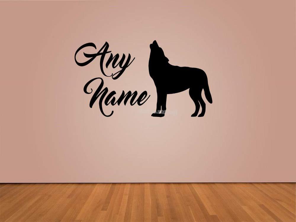 Lobo Aullando Animal Nombre Personalizado Tatuajes de Pared Para ...