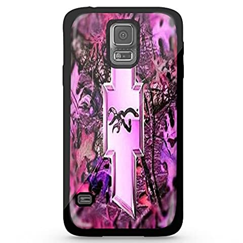 Logo with a Deer on the Inside Pink for Iphone and Samsung Galaxy (Samsung Galaxy s5 black) (Browning Cell Phone Cases)