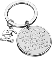 FUSTMW Graduation Gift Take Pride in How Far You Have Come Keychain Inspirational Letters Graduates Gifts for