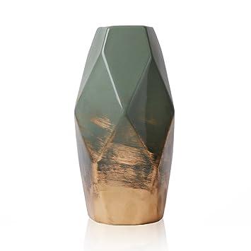 Hannahu0027s Cottage Grün Gold Vase Keramik Vase Kleine Blumenvase Moderne  Farbe Tischvase Blumen Pflanzen Vase Keramikvase