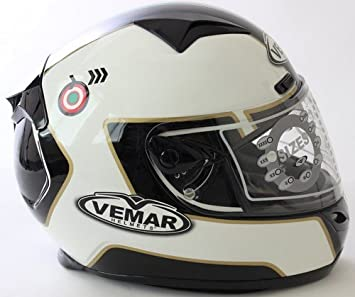 VEMAR casco Full Face ECLIPSE negro-blanco tamano : XXS