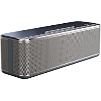 AUKEY Bluetooth Stereo Speaker 16W, Metal Wireless Speaker with Enhanced Bass, 10 Hours Playtime for Echo Dot, iPhone, iPad, Samsung, and More