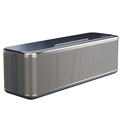 AUKEY Bluetooth Stereo Speaker 16W, Metal Wireless Speaker with Enhanced Bass, 10 Hours Playtime Compatible with Smartphones