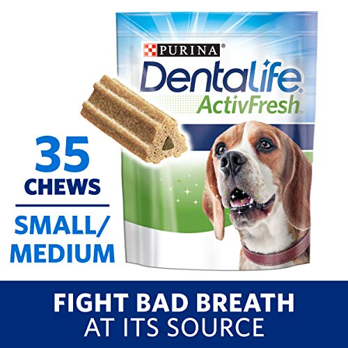 Sm Dog Chew Bone - Purina DentaLife Small/Medium Breed Dog Dental Chews, ActivFresh Daily Oral Care Small/Medium Chews - 35 ct. Pouch