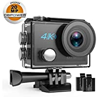 DBPOWER DB0923 N5 4K Action Camera, 5X Zoom HD 20MP Sony...