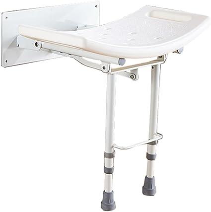 Sgabello pieghevole per doccia comodo risparmio di spazio per anziani per vasche da bagno Docce per ambienti umidi sedili fissati al muro