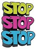 """""""STOP"""" Door Stoppers / Door Wedges, Pack of 3"""