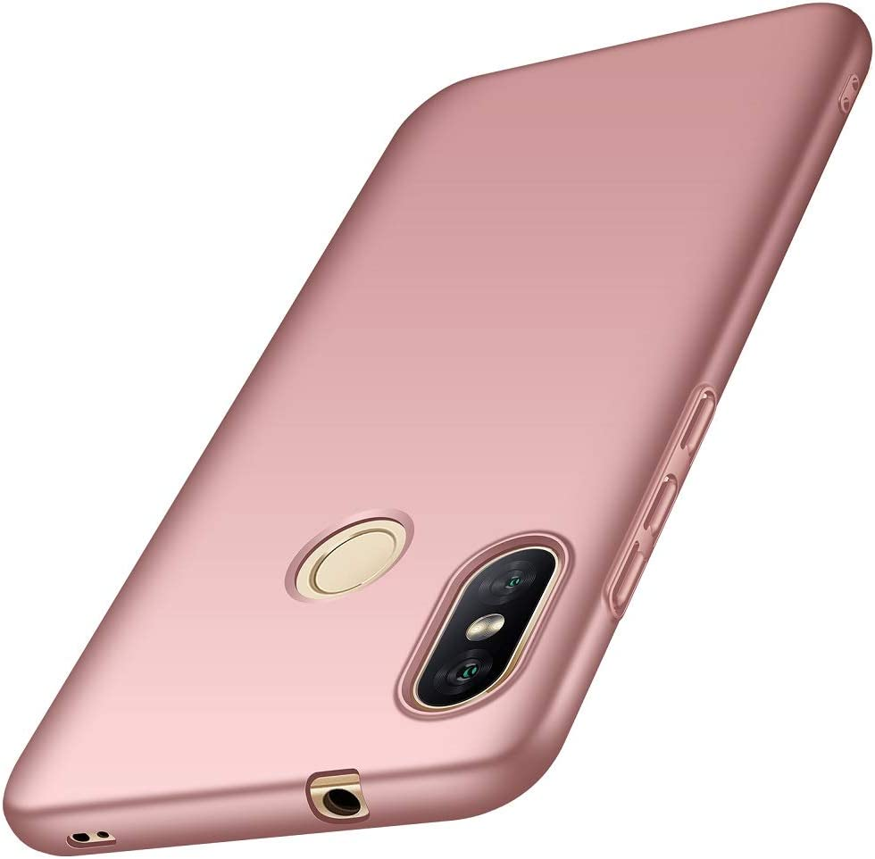 ORNARTO Funda Xiaomi A2 Lite 5,84',A2 Lite Carcasa [Ultra-Delgado] [Ligera] Mate Anti-arañazos y Antideslizante Protectora Sedoso Caso para Xiaomi A2 Lite(2018) 5,84 Pulgadas Oro Rosa