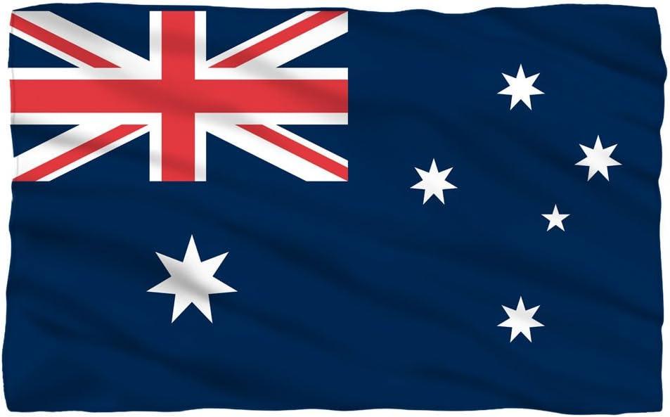 Amazon Com Australia Flag Fleece Throw Blanket 36 X58 Home Kitchen