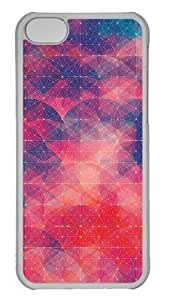 Customized Case Patterns red PC Transparent for Apple iPhone 5C by supermalls