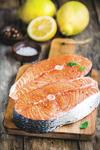 (Notebear: Two Fresh Raw Salmon Steaks With Lemons Closeup Journal - Alternate Lined And Blank Pages (Photo Notebooks & Diaries))