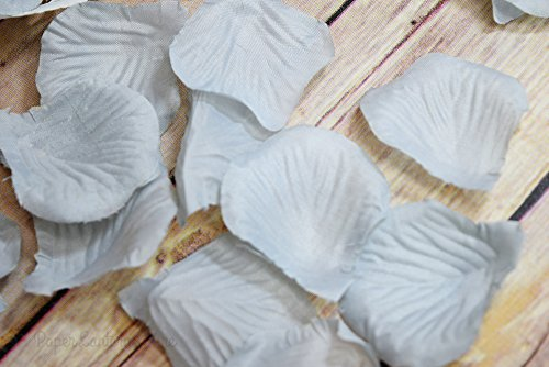 Quasimoon Gray / Grey Silk Rose Petals Confetti for Weddings in Bulk by PaperLanternStore