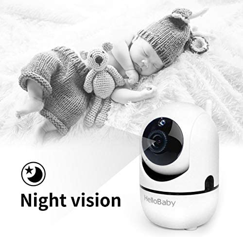 51Iw6OqCUPL. AC - HelloBaby Video Baby Monitor With Remote Camera Pan-Tilt-Zoom, 3.2'' Color LCD Screen, Infrared Night Vision, Temperature Display, Lullaby, Two Way Audio, With Wall Mount Kit