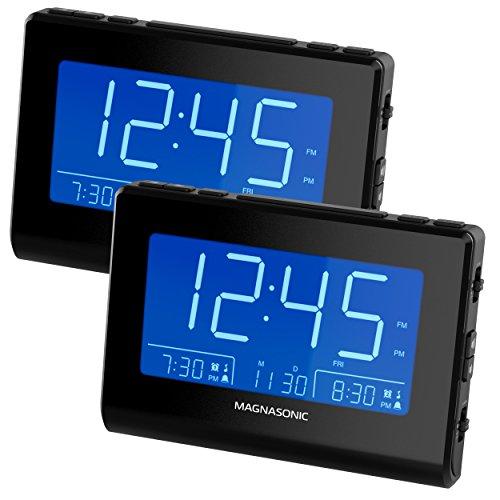 Magnasonic Alarm Clock Radio with USB Charging for Smartphon
