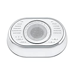 Ultra-Portable Rechargeable Sound Machine | 12 Relaxing Sleep Sounds , Auto-Off Timer, Lightweight | Portable Sleep Therapy for Home , Office , Baby & Travel , Rechargeable Battery | SoundSpa HoMedics