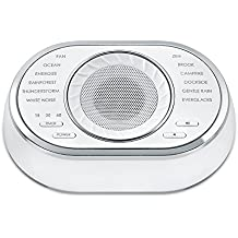Ultra-Portable Rechargeable Sound Machine | 12 Relaxing Sleep Sounds, Auto-Off Timer, Lightweight | Portable Sleep Therapy for Home, Office, Baby & Travel, Rechargeable Battery | SoundSpa HoMedics