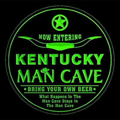 4x ccpb2017-g KENTUCKY Man Cave Cowboys Bar Beer Drink Etched Engraved 3D Coasters