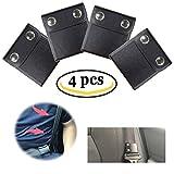 Seat Belt Adjuster,Comfort Universal Auto Shoulder Neck Strap Positioner, Universal Vehicle Car Seat Belt Safety Covers - Black (4PCS)