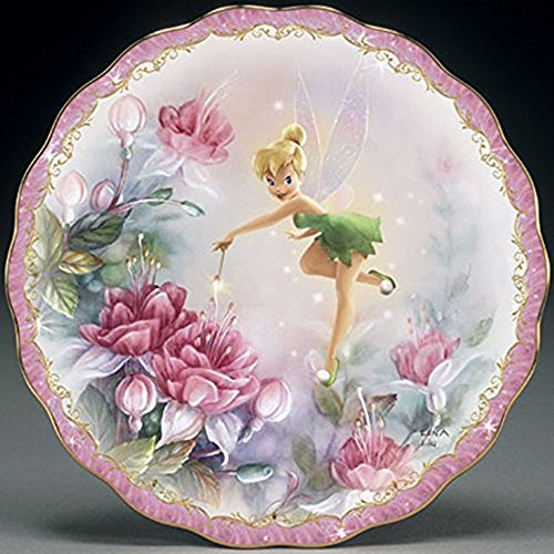 The Bradford Exchange Finishing Touch Tinkerbell Garden Porcelain Collector's (Disney Layered Accents)