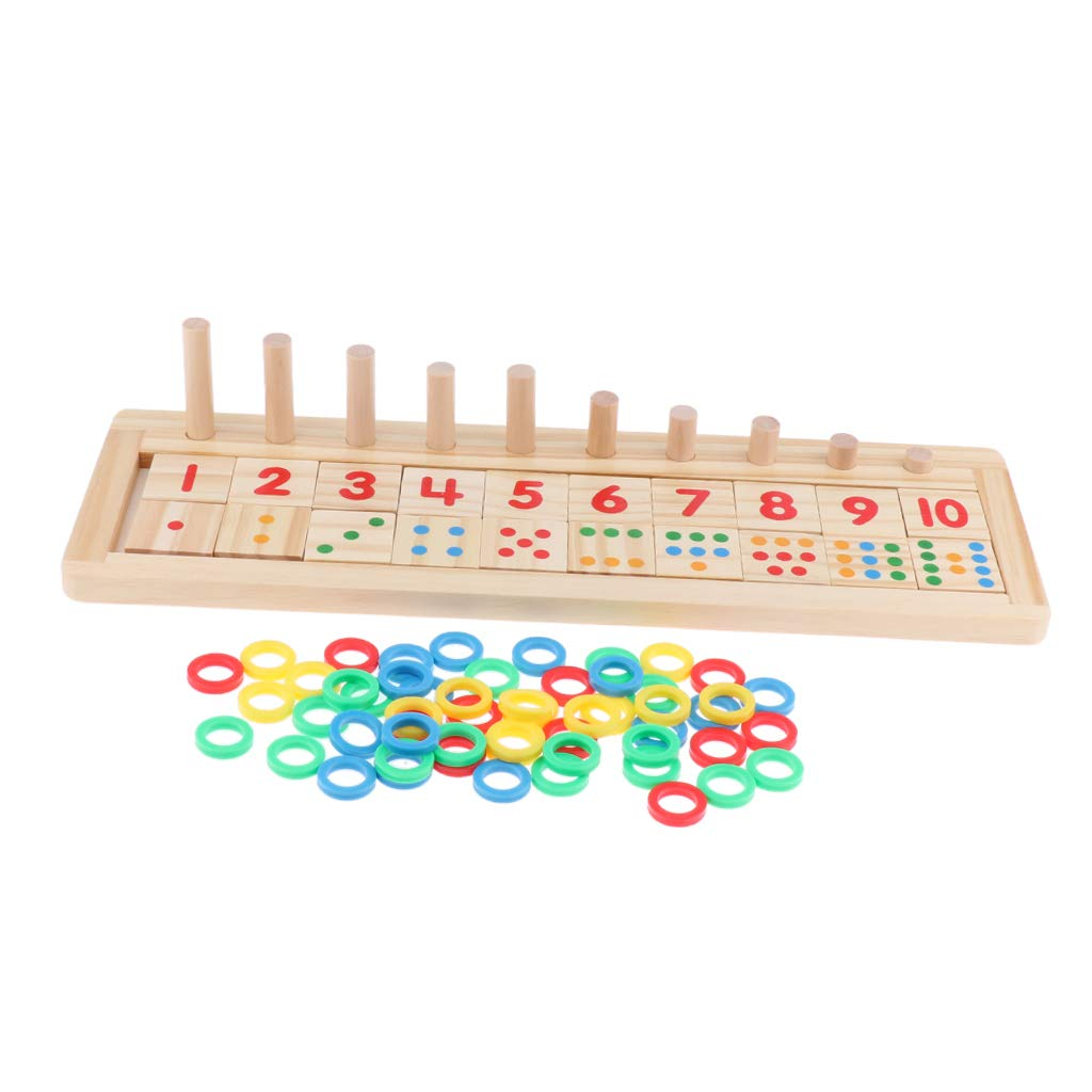 6b52e82993506 F Fityle Wooden Count   Match Numbers Set Preschool Kids Maths Learning Toy  Counting up  Amazon.co.uk  Toys   Games