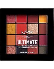 NYX Professional Makeup Ultimate Edit Petite Shadow Palette Paleta 16 cieni do powiek intensywna pigmentacja, trwałe kolory, kompaktowy rozmiar, 09 Phoenix