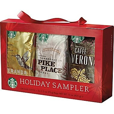 Starbucks Holiday Coffee Sampler (Holiday Blend, Caffè Verona, Café Estima Blend, Veranda Blend, Pike Place Roast & French Roast) (Starbucks Gift Sets Christmas)