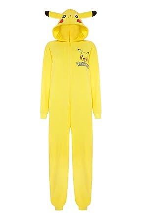 Mens Pikachu Onesie Pokemon Sleep suit (Mens M/L, Yellow/Pokemon ...
