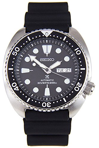 (Seiko Men's Automatic Diver Watch with Black Silicone Strap )