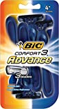 BIC Comfort 3 Advance Disposable Razor, Men, 4-Count (Pack of 6)