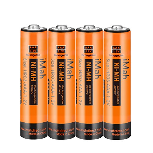 iMah AAA Rechargeable Batteries 1.2V 750mAh, Pack of 4