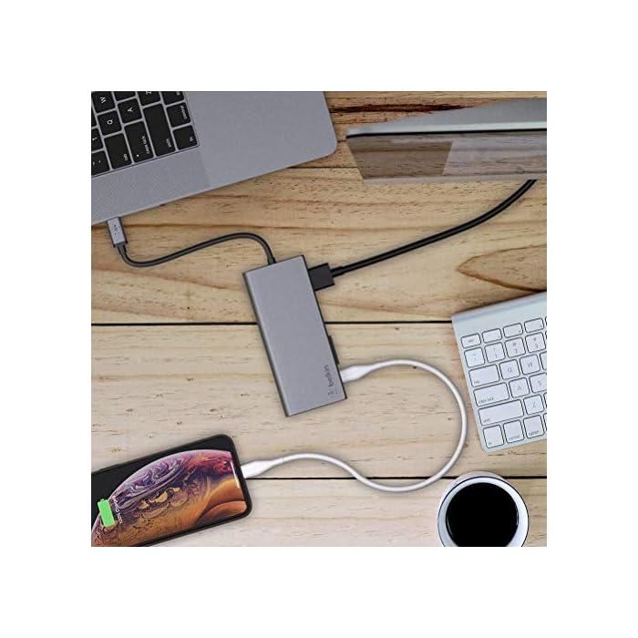 51Iw8lZMF9L Haz clic aquí para comprobar si este producto es compatible con tu modelo Conecta múltiples dispositivos por el hub a tu portátil, incluyendo discos duros, monitores, proyectores, ratones, teclados, tarjetas sd, internet y muchos otros Compatible con dispositivos mac os and windows con usb-c