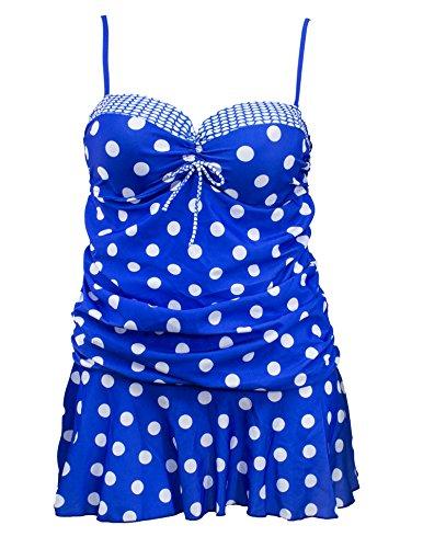 Blue Polka Dots Bikini Set in Australia - 7