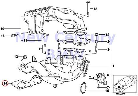 2 X BMW Genuine Intake Manifold System Profile-Gasket E36 E39 Z3