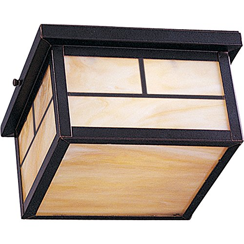 - Maxim 4059HOBU Coldwater 2-Light Outdoor Ceiling Mount, Burnished Finish, Honey Glass, MB Incandescent Incandescent Bulb , 60W Max., Dry Safety Rating, Standard Dimmable, Glass Shade Material, Rated Lumens