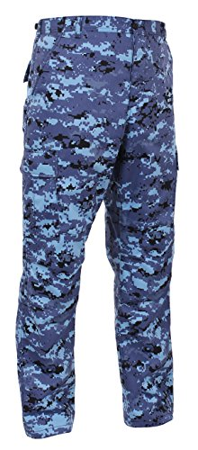 Rothco Digital Camo Tactical BDU Pants, Sky Blue Digital Camo, M