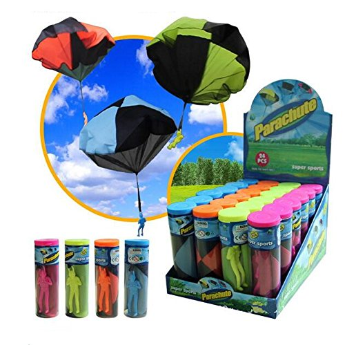 2 Pack of FQStech Toy Parachute Soldier Men Hand Throwing Parachute Jump Fly Toys Outdoor Play Game Toy
