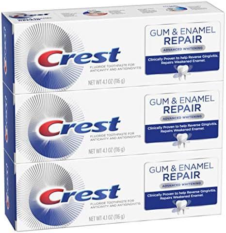 Crest Gum & Enamel Repair Toothpaste Advanced Whitening, 4.1 Ounce, Triple Pack