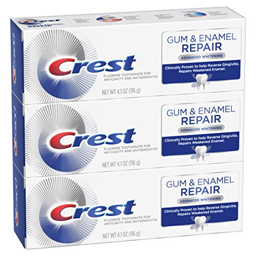 Crest Gum & Enamel Repair Toothpaste Advanced Whitening, 4.1 Ounce, Triple Pack (Best Toothpaste For Bad Teeth And Gums)