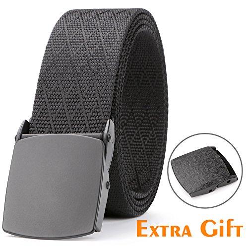 Nylon Web Belt,SUOSDEY Men's Heavy Duty Belt Tactical Military Style Black - Black For Style Men