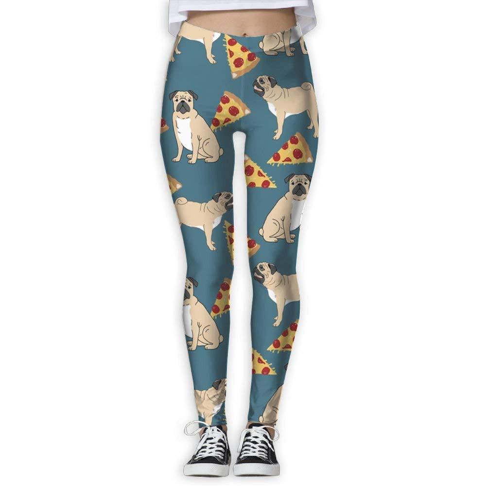 wwoman Pantalones de Yoga para Mujer Pizza para Perros Pantalones ...