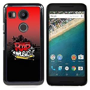 Rap Music Caja protectora de pl??stico duro Dise?¡Àado King Case For LG Google Nexus 5X